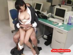 Office lady fucked cum to mouth in the office
