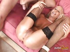 Puma swede sucks and fucks a huge cock