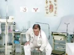 Iveta gyno pussy and anal speculum checkup at clinic
