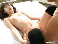 Japanese slut fucked in hot threesome