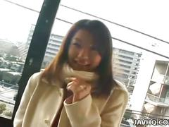 Japanese teen exhibs and fucked outdoor