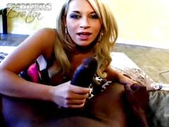 Blond charmer kori tyler smokes and gives blowjob