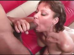 Horny milf vanessa tries really big black cock