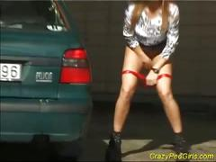 Hot chick peeing caught on tape