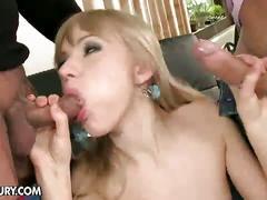 anal, blonde, dp, anal dp, anal sex, babe, big dick, blow job, cum, double anal