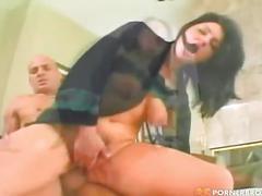 anal, big dick, milf, atm, blowjob, caucasian, cowgirl, dark hair, doggy style, hair pulling