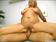 Old pussy fucked by a younger rod