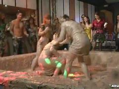Mud battle