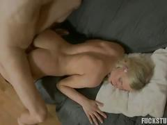 Pigtailed girl gets fucked in a free sex movie