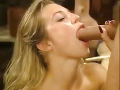 Gorgeous girl in stockings anal sex