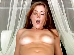 Alyson riding a huge cock.