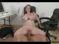 Desiree sitting on jmac's cock while he pounds away at her pussy.