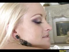 Sammie licking pussy.