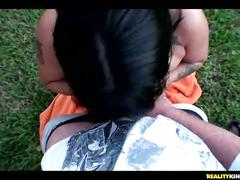 Sasha outdoors pov blowjob