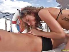 A couple having sex on the boat