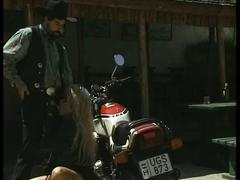 Hot biker chick drilled hard by horny cowboy