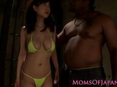 Japanese milf interracial fuck