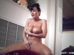 Busty and big ass milf lisa ann toying in hotgvibe