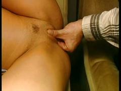 Short haired brunette pussy fucked hardcore