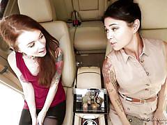 Lesbians couples caught talking