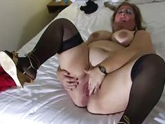 Bbw mature in bed