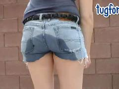 Katie morgan peeing her tight jeans omorashi wetting