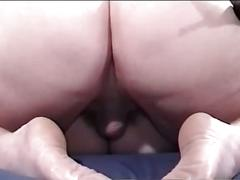 Nasty fat babe taking old daddy cock