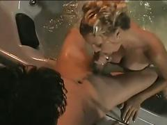 Hot blonde in sizzling outdoor fucking by the pool