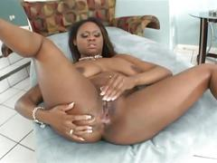 Hot ebony whore fucked hard