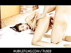 hardcore, brunette, shaved-pussy, small-tits, pussy-licking, reverse-cowgirl, cumshots, cum-in-mouth, ferrera-gomez, jessica-koks, nubilefilms
