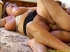 Heavy granny gets drilled