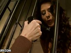 Mistress ties up slave for a good plugging