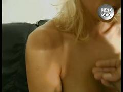 Mature blonde uses toys and sucks dick
