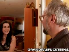 Slutty chick wants some old dude inside her