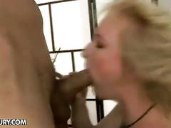 Anal intruder fucks blonde mom
