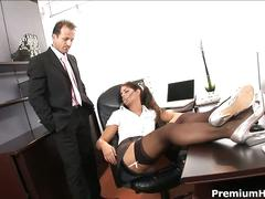 Hot secretary drilled by her boss big time!