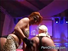 Hot lesbians on stage for sizzling lesbian show