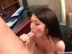 Hot ashlyn rae takes on her huge boss