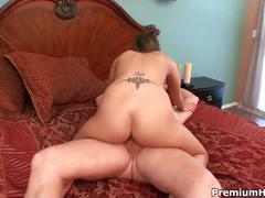 Teen brunette showered with daddy's cum