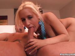 Hot blonde secretary after office hours boss fuck