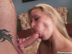 Hot milf in pink and sweet creampie
