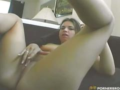 Naughty girl sucks & fucks & creampie