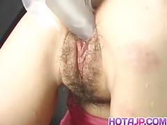 Kaoru mugi is fucked with vibrator and cock