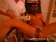 Horny mistress nurse tortures her slave