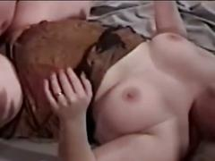 Fatty mom and busty babe for huge cock