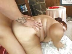 Busty fatty red haired babe drilled hard