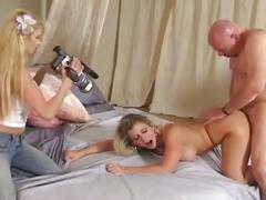 Sara jay pounded hard on her pussy and tight asshole