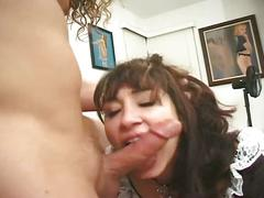 Sexy young maid gets her ass fucked good!