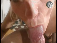 Blonde lady enjoys a big old dick
