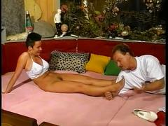 Short hair brunette fucked deep by big hard cock